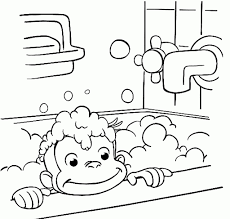 curious george coloring pages collection curious george coloring pages inside bathtub fun page