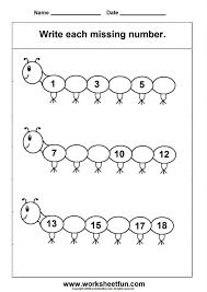 Maths Kindergarten Printables Sequencing To Number Free Pre K Best ...