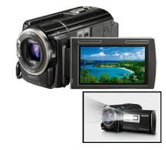 sony handycam. sony handycam hdr-pj50v- 220gb full hd camcorder with projector