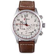 curren 8152 pu leather military number white men wrist quartz curren fashion men quartz watch leather watch band