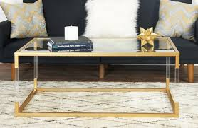 Image of: Acrylic Coffee Table with Gold Frame