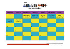 Weekly Timetable Planner Revision Timetables And Planning Bbc Bitesize