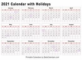 Use it to plan your vacations throughout the year. 2021 Calendar Beta Calendars