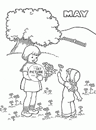 Small Picture Printable May Flowers Coloring Pages Throughout esonme