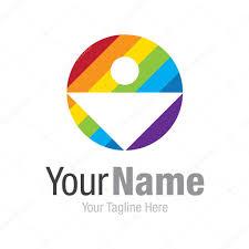 Spectrum Graphic Design Human In Colorful Color Spectrum Graphic Design Logo Icon