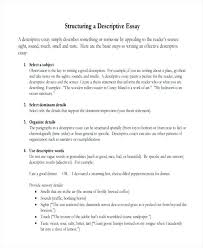 Examples Of Descriptive Essay About A Place Descriptive Essay Example Place Descriptive Essay Example 6 Samples