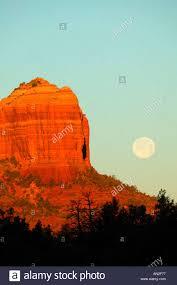 Light Show In Sedona Az Full Moon And Sunrise Light On Cathedral Rock Sedona Arizona