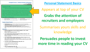 3 Cv Personal Statement Examples + Writing Guide And Cv Template
