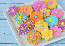 decorated flower sugar cookies. Modren Decorated Pretty Flower Decorated Cookies  By Glorious Treats In Sugar C