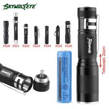 Hydro Light Flashlight Review Us 1 63 31 Off Penlight Flashlight 3800lm Xpe Led Torch Waterproof 3 Modes Bike Light Zoom Lanterna With Pocket Clip Strap By Aa 14500 A609 In Led