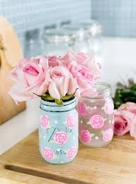 painted rose mason jars how to paint a rose tutorial easy rose painting tutorial
