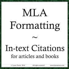 Mla Format For Intext Citations Mla Format In Text Citations Power Point