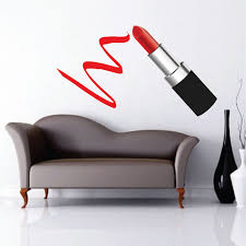 on red lipstick wall art with lipstick wall decals makeup artist lipstick wall art lipstick