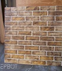faux brick wall covering exterior home design ideas