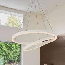 60 watt white integrated led chandelier