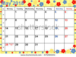 calendar for the month of may calendar 2018 month may public holidays stock photo photo vector
