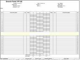 40 Electrical Panel Schedule Template Excel Markmeckler