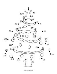 Christmas Tree Dot To Dot Puzzle