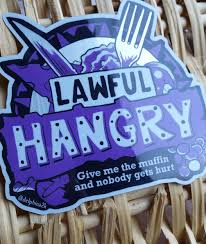Giant Lawful Hangry Sticker