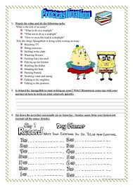 a lesson on procrastination time management worksheet esl  a lesson on procrastination time management
