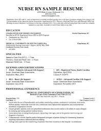 Registered Nurse Resume Template Free Resume Registered Nurse Cv