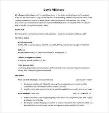 Web Designer Resume Sample Download Template Website Example For