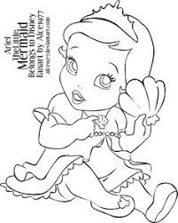 Coloring Pages Disney Princess Baby