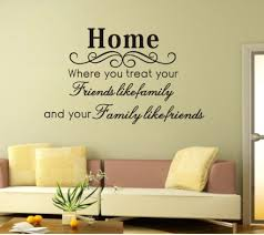 awesome idea word wall art decorations home where you treat your friends removable vinyl images canvas