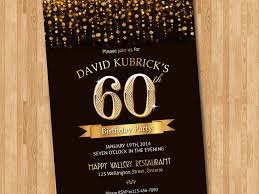 60 birthday invitations 60th birthday invitation gold glitter diamond number birthday