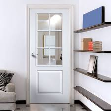 modular white interior doors with glass jbk faro white primed door with clear safety glass vqadkuq