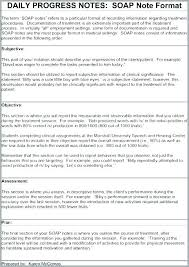 Soap Progress Notes Template Note Free Word Documents Icu