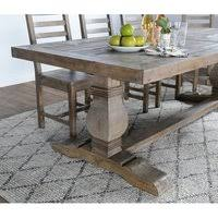 Classic home furniture reclaimed wood Cricshots Kasey Reclaimed Wood Dining Table By Kosas Home Overstock Shop Paloma Rustic Reclaimed Wood Rectangular Trestle Farm Table By