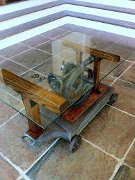 This Would Be The Coolest Coffee Table Ever! But Not Fun To Stub Your Toe  On. OUCH! Antique Drill Press Coffee Table