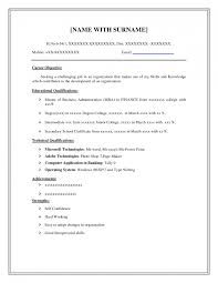 Examples Of Resumes Best Photos Basic Resume Template Word Free