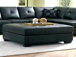 black leather ottoman fabulous black leather square ottoman coffee table