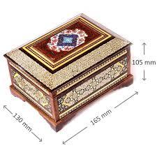 Decorative Jewelry Gift Boxes Luxury Khatam Jewelry Gift Box Wooden Handmade craft Inlaid 34