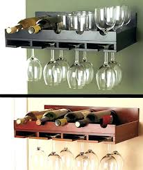 wall mounted wine and glass rack wall mount wine glass rack wooden wine rack in stock