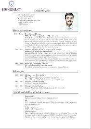Curriculum Vitae English Example Pdf Cv Resume Format In Template