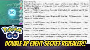 Secret Behind Double Xp Event Level 45 Introduced In Pokemon Go