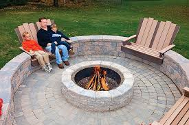 outdoor fire pit rock designs how to build stone