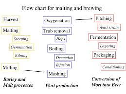 Ppt Flow Chart For Malting And Brewing Powerpoint