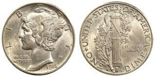 1916 S Mercury Silver Dime Coin Value Prices Photos Info