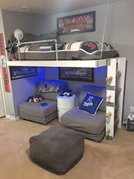 bedroom design for teenagers with bunk beds. Ikea Rug Hack Pouf Kc Royals Boys Teen Bedroom Mlb Pottery Barn Quilt Loft Bed Design For Teenagers With Bunk Beds