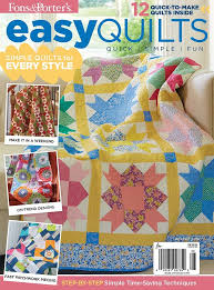 Easy Quilts Winter 2016 - Fons & Porter - The Quilting Company & The Easy Quilts Winter 2016 issue is filled with quilt patterns and  projects for a warm and wonderful holiday season! This issue of Easy Quilts,  ... Adamdwight.com