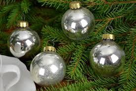 Christbaumschmuck 12 Lauscha Kugeln Christbaumkugeln Weihnachtsbaum Weihnachtskugeln Christmas Tree Balls Bell Christbaum Shabby Silber Xmas