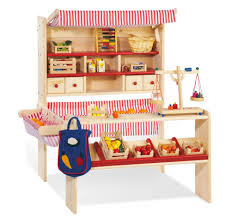 inspiring childrens wooden pretend play market stall toy pict