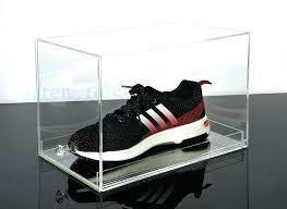 glass shoe box sneaker display case transpa acrylic high heeled sneaker shoe box showcase clear acrylic glass shoe