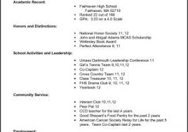 Sample Resume For High School Students Fresh High School Resume ...