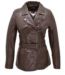 leather jacket brown woman perfecto style 100845