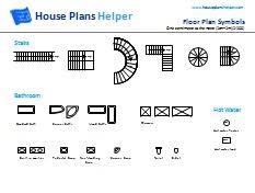 Impressive Floor Plan Symbols Bathroom Free Stairs With Inspiration